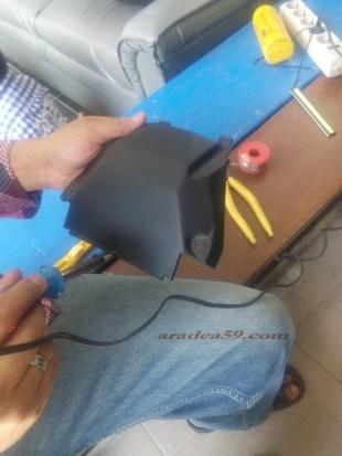 tandai pake spidol lalu nyoss pake solder