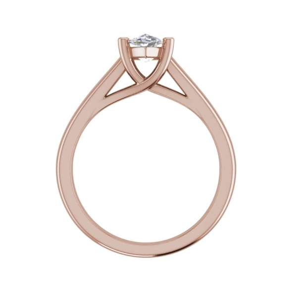 Solitaire 0.5 Carat VVS2 Clarity F Color Marquise Cut Diamond Engagement Ring Rose Gold 2