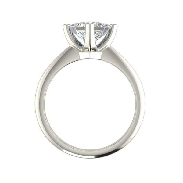 4 Prong 2 Carat VS2 Clarity H Color Princess Cut Diamond Engagement Ring White Gold 2