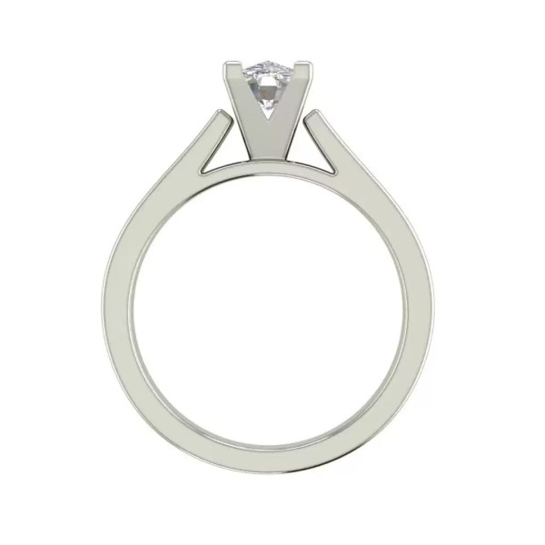 Cathedral 1.5 Carat VS2 Clarity F Color Oval Cut Diamond Engagement Ring White Gold 2