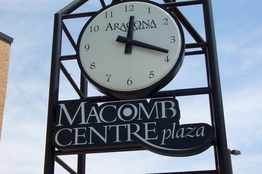 Macomb Centre Plaza Clock Tower