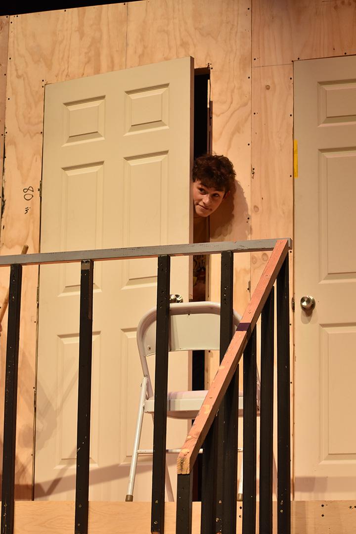 Preston-peeking thru door-small
