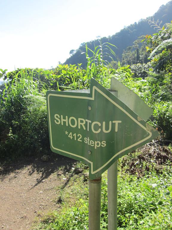 short cut sign