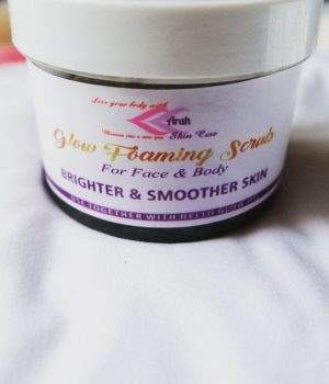 Arah Glow Foaming Scrub is the remedy to foam exfoliator to face & body scrub. A natural remedy for all Skin Types.