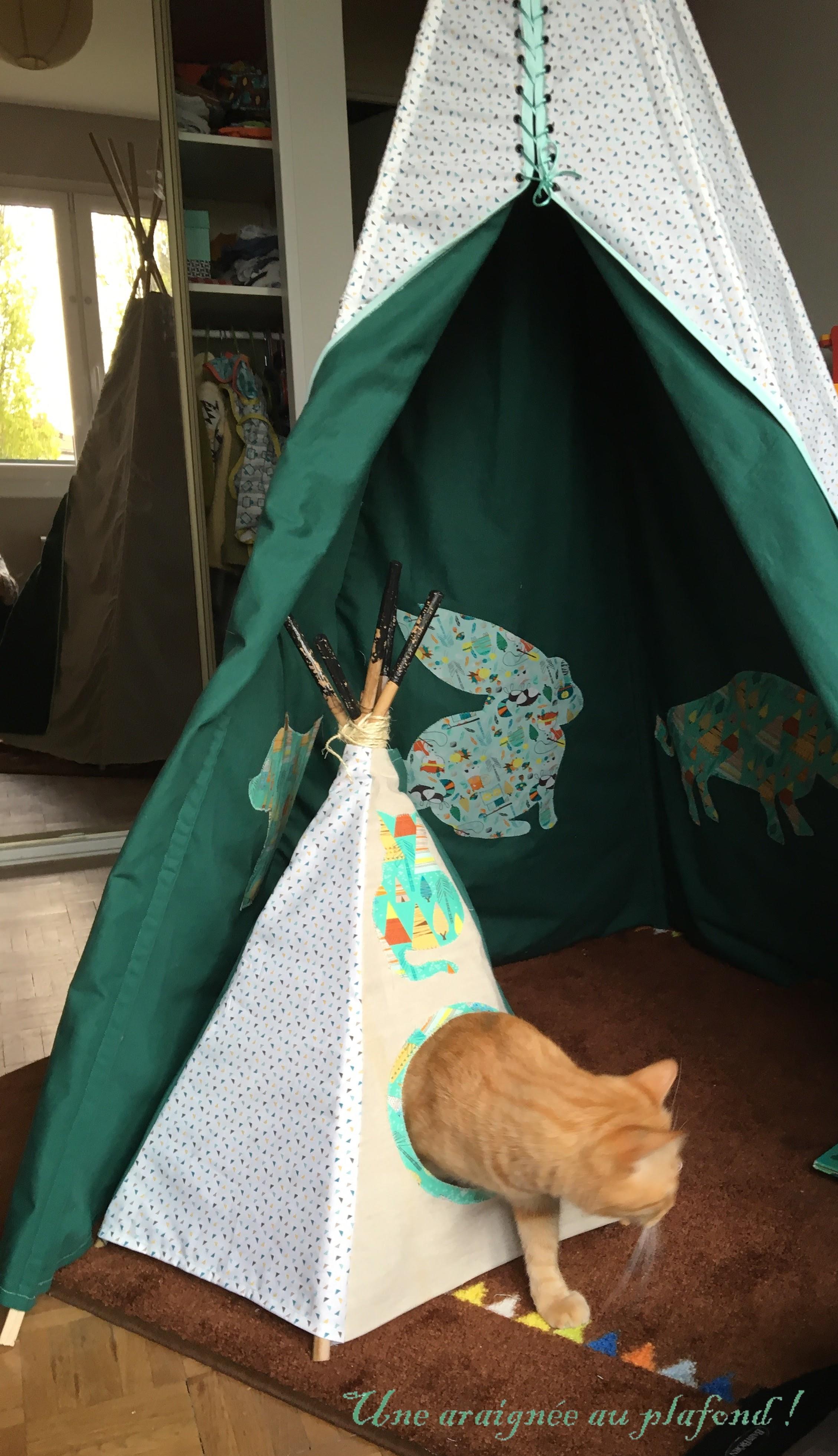 Tipi Pour Chat A Fabriquer diy - un tipi pour chat - une araignée au plafond!