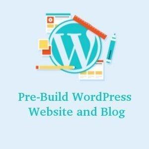 Pre-Build WordPress Website