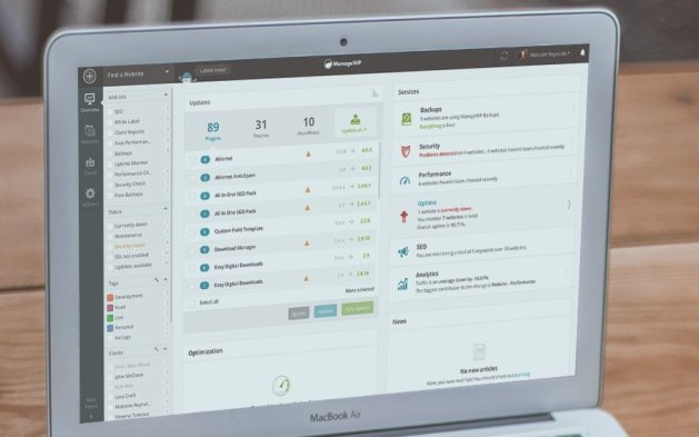 ManageWP manage Your WordPress websites