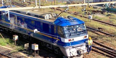 隅田川駅でJR貨物の最新機関車「EF210-323」押し太郎を目撃!