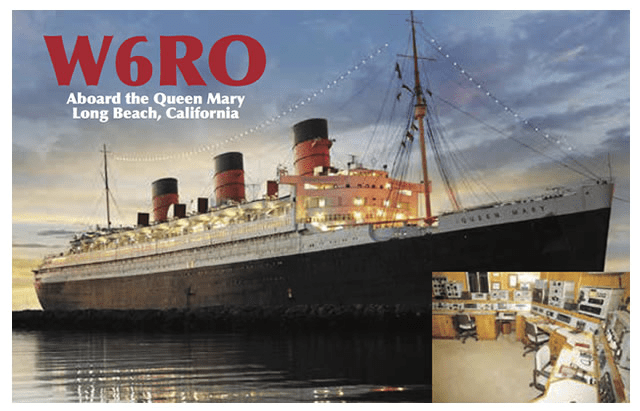 W6RO Aboard the Queen Mary, Long Beach, California