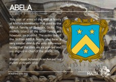 The ABELA coat of arms