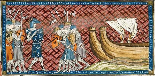 Philip II of France arriving in the eastern Mediterranean CRUSADES!