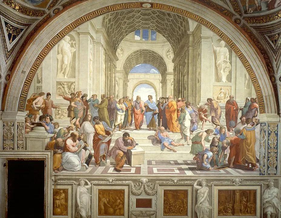 School of Athens by Raffaello Sanzio da Urbino painted during renaissance