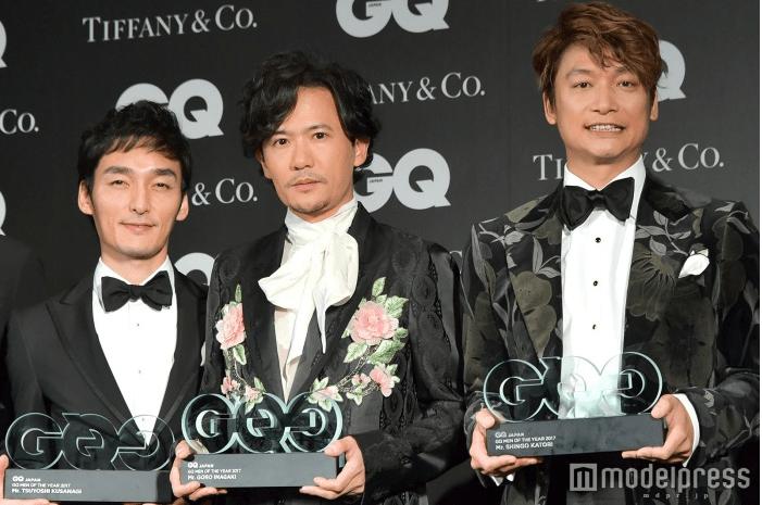Shingo Katori, Tsuyoshi Kusanagi, & Goro Inagaki steal the show at GQ Men of The Year Awards