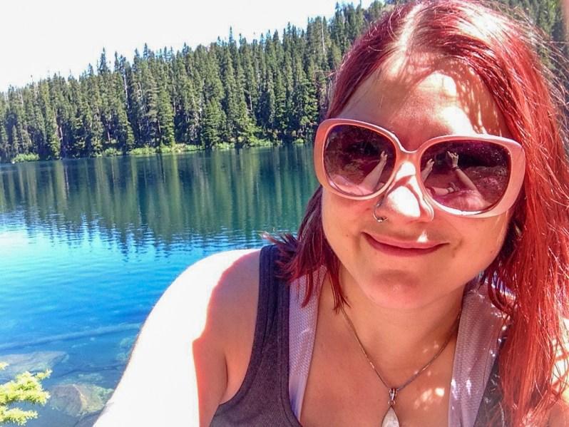 Selfie in front of Mirror Lake in July 2015