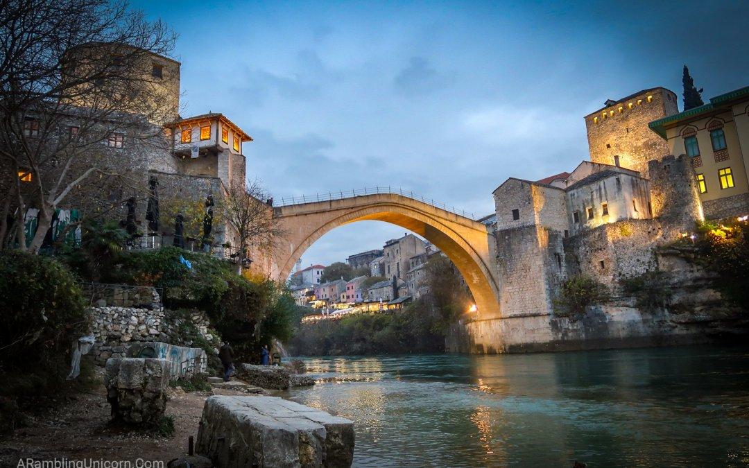 Staying Warm in Mostar, Bosnia and Herzegovina