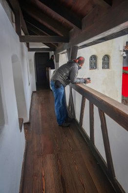 Interior of Bran Castle.