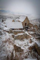 Inside Râșnov Fortress.