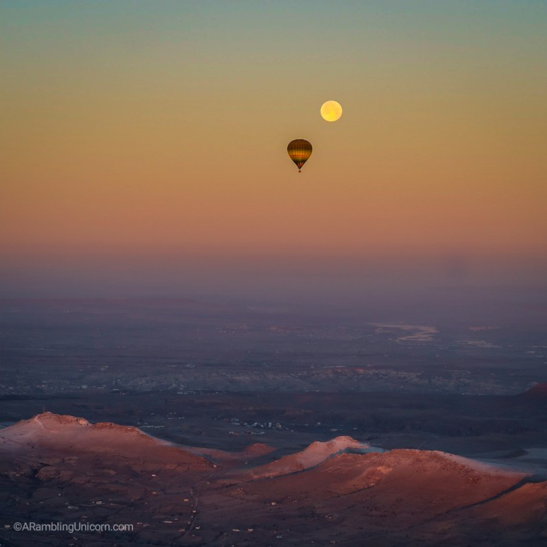 Cappadocia Itinerary Day 1: Hot air ballooning with a full moon at sunrise