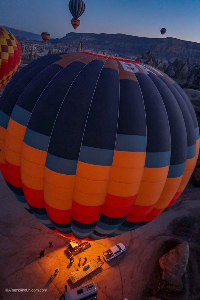And we're off on our Cappadocia balloon ride!