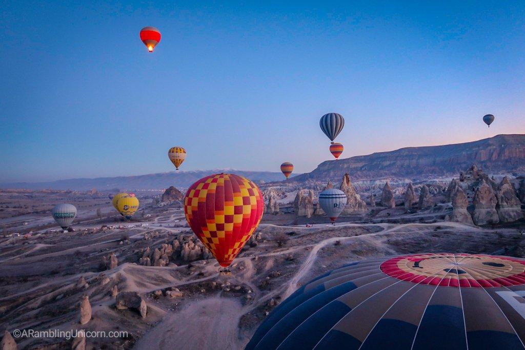 We begin our Cappadocia balloon ride.
