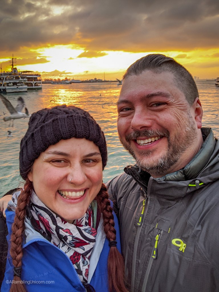 Romantic Bosphorus sunset selfie time!