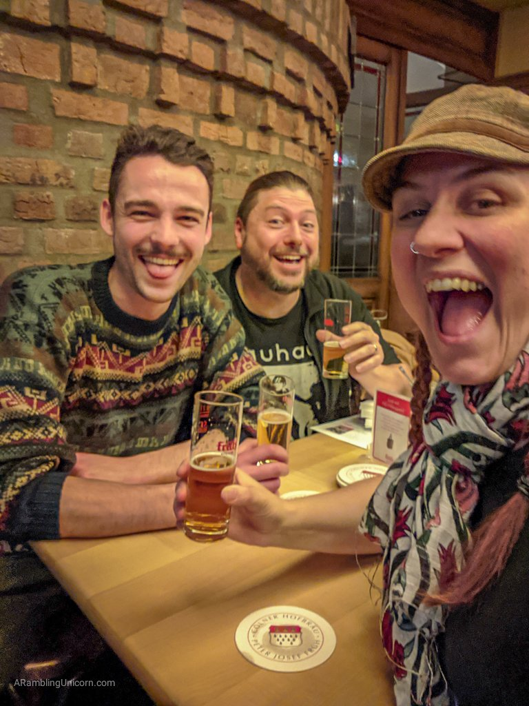 Tim and I end our Cologne day trip by meeting with Daniel for a celebratory Kölsch back in Cologne