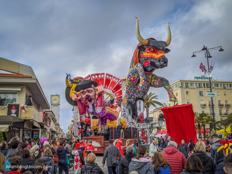 The Carnival celebrations in Viareggio