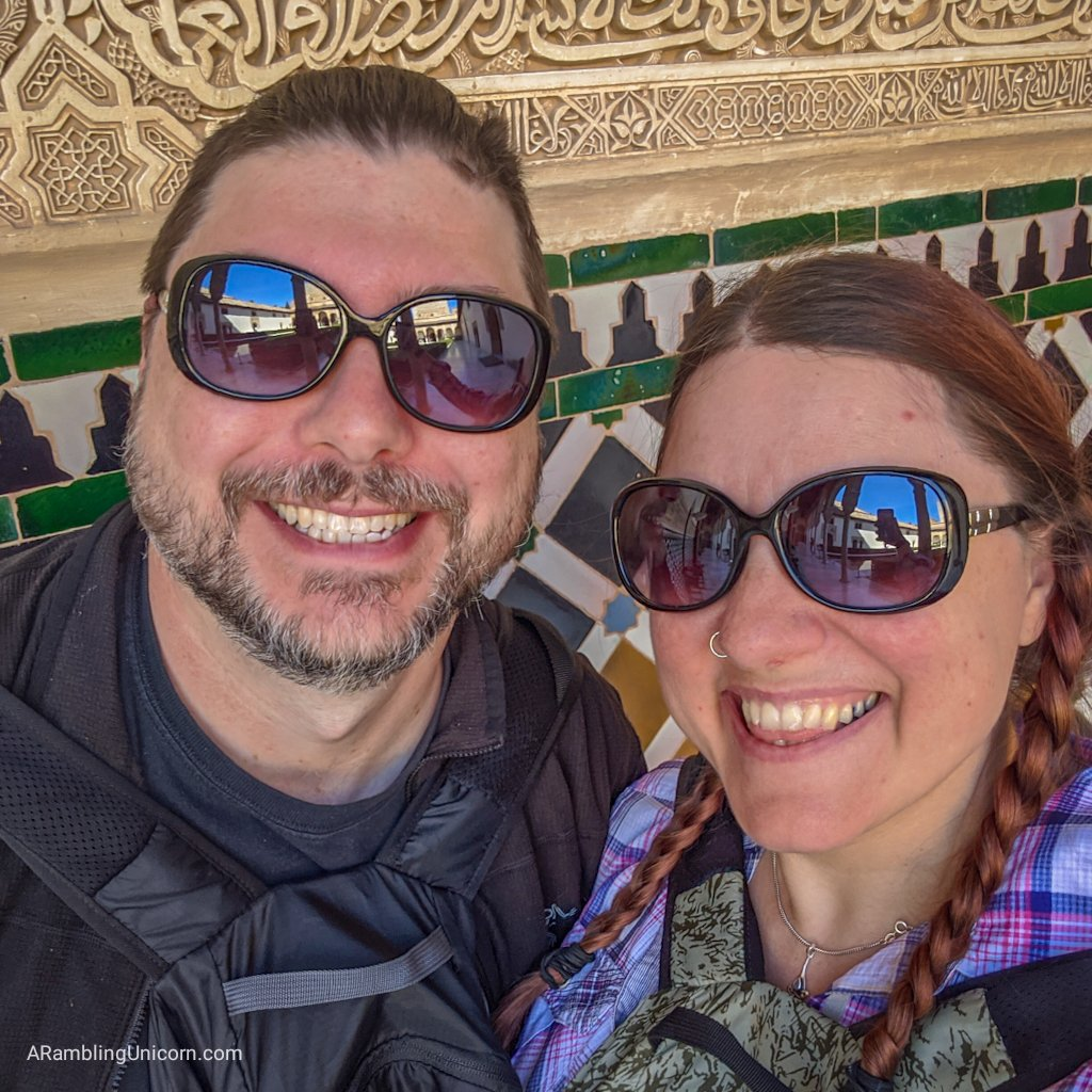 Daniel and I are the Alhambra Palace in Granada. This was taken the day before the travel ban to Europe was announced.
