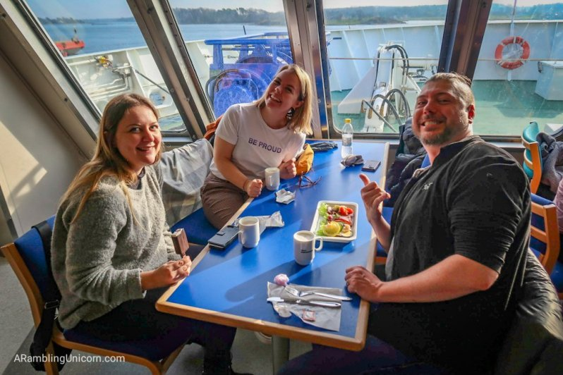 Delicious snacks on the ferry? Yes please!g