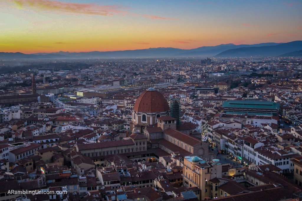 Basilica di San Lorenzo as viewed from the Florence Cathedral Duomo