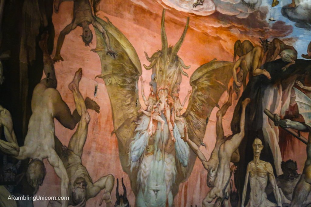 The depictions of hell on the Duomo are very creative...