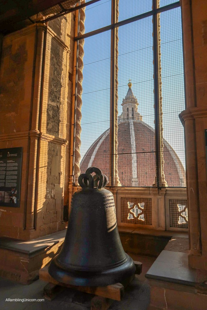 One of the bells in Giotto's Campanile