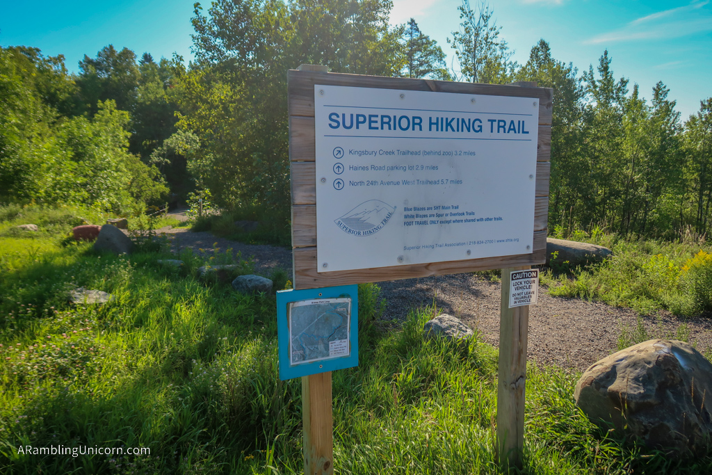 Superior Hiking Trail - Skyline Trailhead