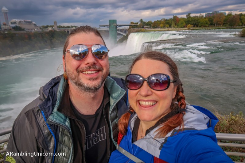 Selfie from a Niagara overlook: a must-do when spending one day in Niagara Falls