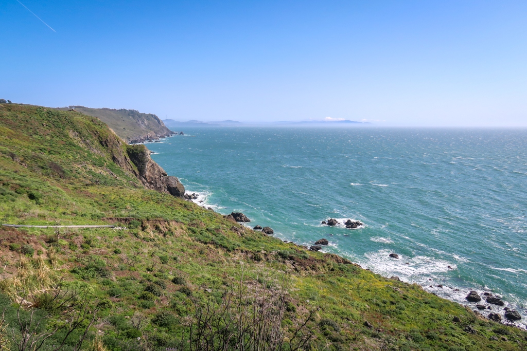 On of many overlooks along the Pacific Coast Highway on a Northern California Coast Road Trip