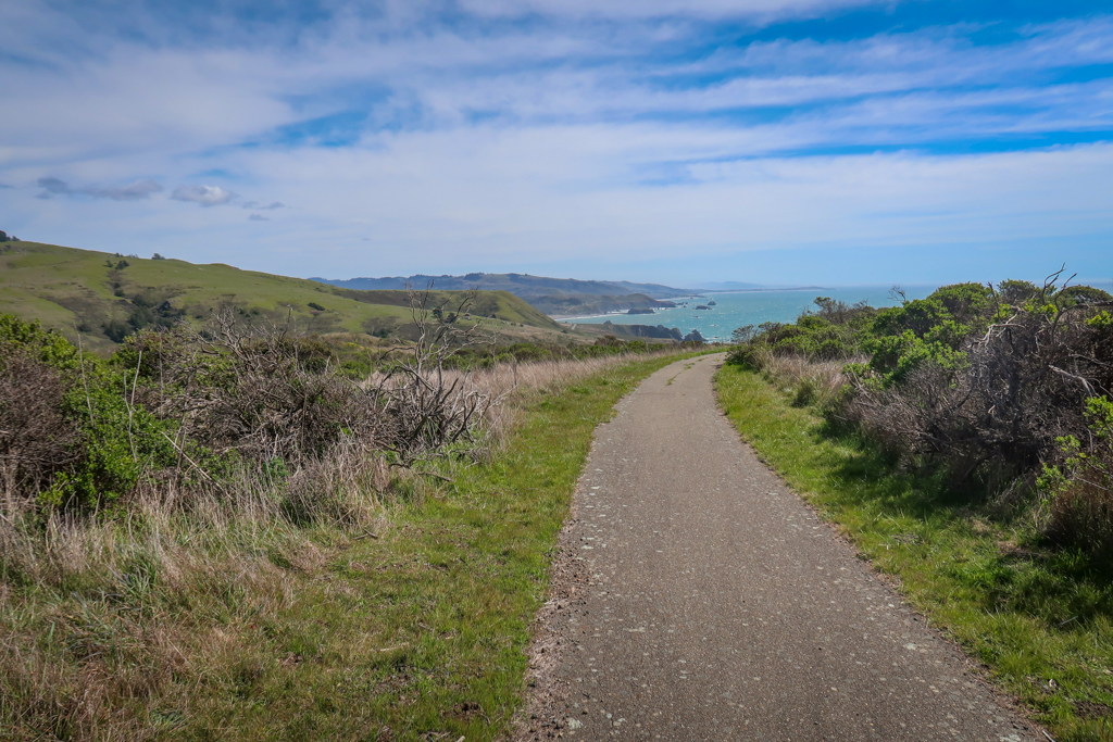 Wheelchair-accessible trail leading to an observation point on Vista Trail in Sonoma Coast State Park