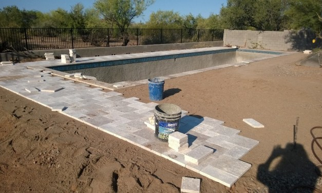 Pool decking coming together