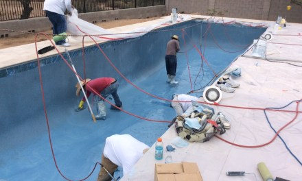 Now the pool is really looking like a pool