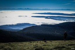 Vistas hacia el sur desde el Gorbea