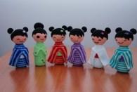 Colección de kokeshi