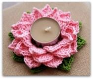 Portavelas flor de loto