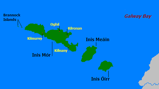 Map of the Aran Islands. Image: Creative Commons.