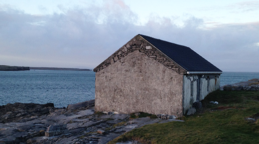 Cottage along the coast road on Inishmore. Photo: Arkell Weygandt