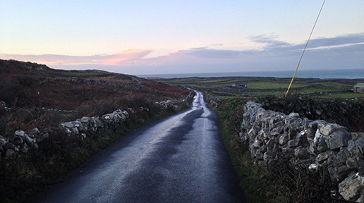 The main road on Inishmore. Photo: Arkell Weygandt