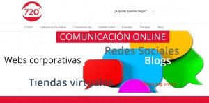 Diseño web y community manager para Comunica 720 Bilbao
