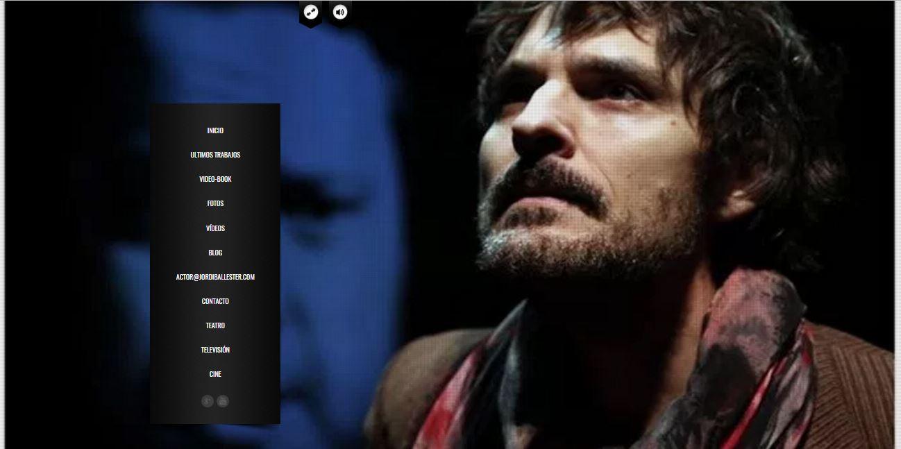 web para un actor - Jordi Ballester