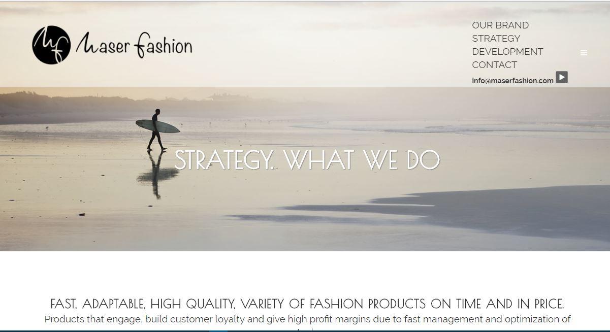 Web en wordpress de empresa internacional retail - Maser Fashion