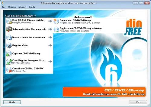 Programmi per masterizzare cd dvd gratis in italiano for Programmi per disegnare mobili gratis in italiano
