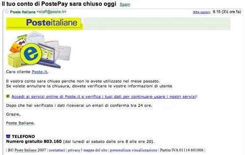 Truffe Poste Italiane
