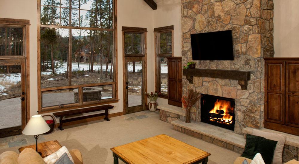 Settlers Creek Custom Home Living Area